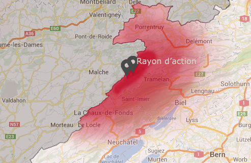 Rayon d'action